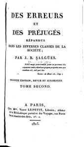 Des erreurs et des préjugés répandus dans les diverses classes de la société: Volume2