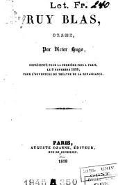 Ruy Blas: drame en cinq actes