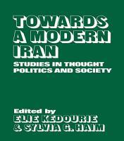 Towards a Modern Iran PDF