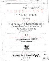 Catalogus Protestantium, etc