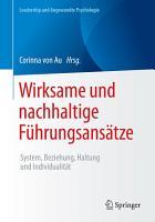 Wirksame und nachhaltige F  hrungsans  tze PDF