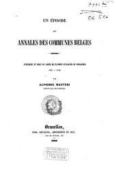 Un épisode des Annales des Communes Belges: avénement et mort du Comte de Flandre Guillaume de Normandie 1127-1128