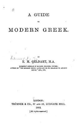 A Guide to Modern Greek
