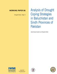 Analysis of drought coping strategies in Baluchistan and Sindh provinces of Pakistan PDF