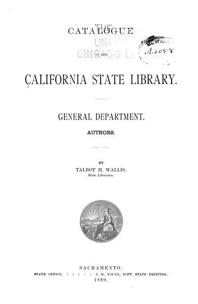 Download Catalogue of the California State Library Book