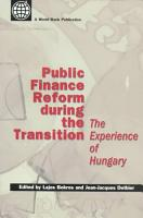 Public Finance Reform During the Transition PDF
