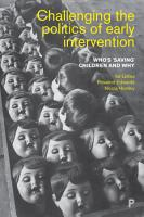 Challenging the Politics of Early Intervention PDF
