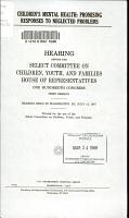 Children s mental health PDF