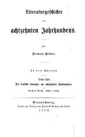 Literaturgeschichte des achtzehnten Jahrhunderts: Band 3