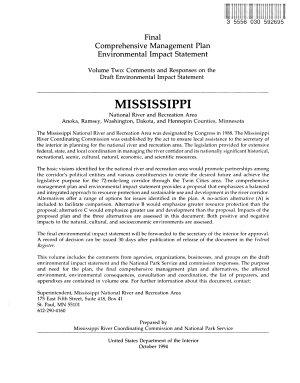 Mississippi National River and Recreation Area Comprehensive Management Plan PDF