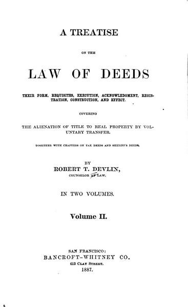 Download A Treatise on the Law of Deeds Book