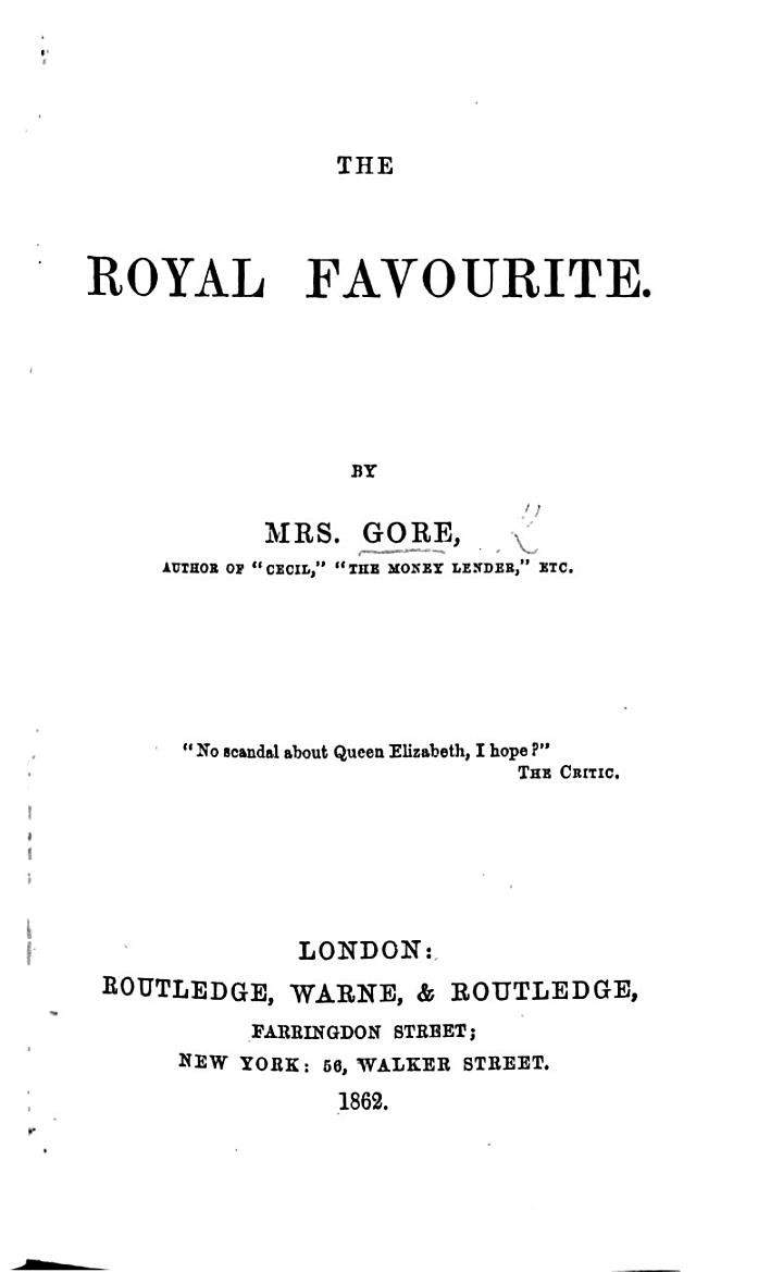 The Royal Favourite
