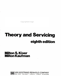 Television Electronics: Theory and Servicing