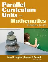 Parallel Curriculum Units for Mathematics  Grades 6   12 PDF