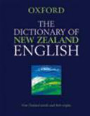 The Dictionary of New Zealand English PDF