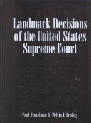 Download Landmark Decisions of the United States Supreme Court Book