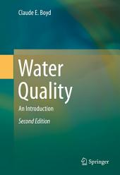 Water Quality: An Introduction, Edition 2