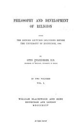 Philosophy and Development of Religion: Philosophy of religion