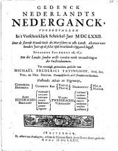 Gedenck Nederlandts nederganck, begonnen in 't verschricklijck schrickel-jaer MDCLXXII.