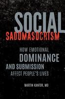 Social Sadomasochism PDF