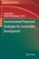 Environmental Protection Strategies for Sustainable Development PDF