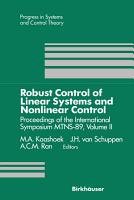 Robust Control of Linear Systems and Nonlinear Control PDF