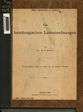 Die hamburgischen Lotsenordnungen