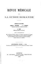 Revue médicale de la Suisse romande: Volume4