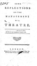 Some Reflections on the Management of a Theatre PDF