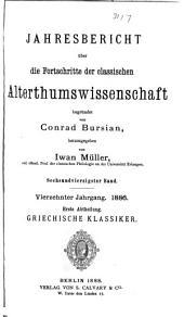 Jahresbericht über die Fortschritte der klassischen altertumswissenschaft: Bände 46-48