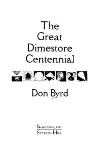 The Great Dimestore Centennial