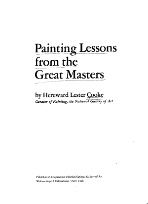 Painting Lessons from the Great Masters PDF