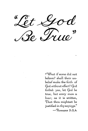 Let God be True     PDF