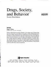 Annual Editions  Drugs  Society  and Behavior 08 09