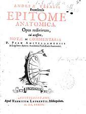 Andreae Vesalii Bruxellensis Epitome anatomica