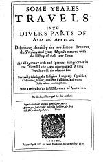 Some Yeares Travels Into Divers Parts of Asia and Afrique. (2. Ed. Revised and Enlarged.)