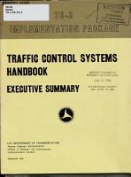 Traffic Control Systems Handbook PDF