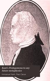 Kant's Prolegomena to Any Future Metaphysics