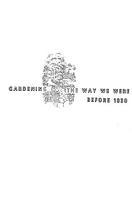 Gardening  the Way We Were Before 1830 PDF
