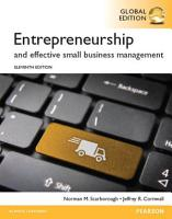 Entrepreneurship and Effective Small Business Management  Global Edition PDF