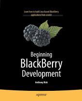 Beginning BlackBerry Development