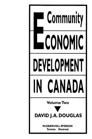 Community Economic Development in Canada PDF