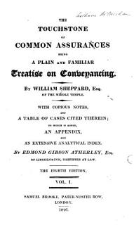 The Touchstone of Common Assurances Book