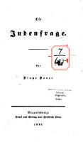 Die Judenfrage PDF