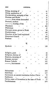 The History of All Religions: With Explanations of the Doctrines and Order of Worship, as Held and Practised by the Denominations of Professing Christians; Comprehending a Series of Researches, Explanatory of the Opinions, Customs and Representative Worship in the Churches, which Have Been Established from the Beginning of Time to the Commencement of the Christian Dispensation, the Accomplishment of the Prophecies of the Person of Christ; Incontrovertibly Proving by the Positive Declarations of the Prophets that He is the True Messiah