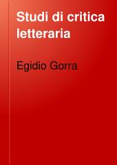 Studi di critica letteraria