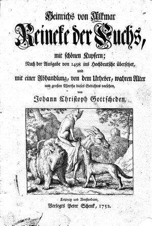 Heinrichs von Alkmar Reineke der Fuchs PDF