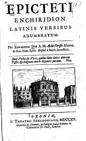 Epicteti Enchiridion Latinis versibus adumbratum