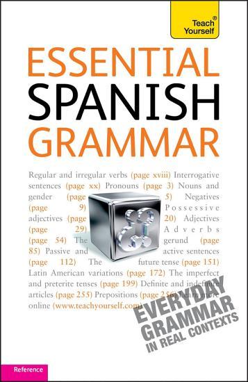Essential Spanish Grammar  Teach Yourself PDF