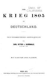 Der Krieg 1805 in Deutschland
